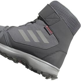 adidas TERREX Snow Hoge Schoenen Kinderen, grey three/grey two/glow green